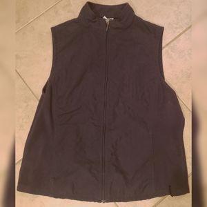 Women's M Columbia Sleeveless Full Zip Sweater